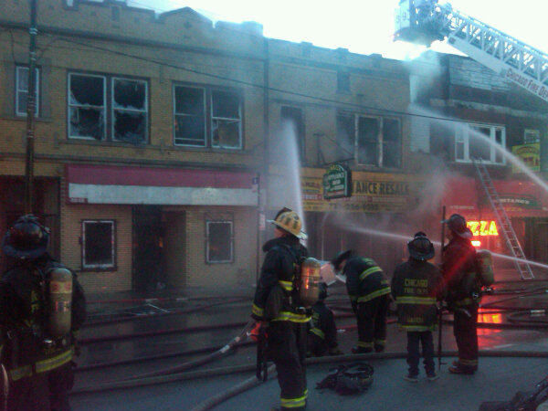 "<div class=""meta ""><span class=""caption-text "">Firefighters battled a two-alarm blaze Thursday evening, April 5, 2012, at an appliance store in the South Side Back-of-the-Yards neighborhood. Read more. (Photo/CFD)</span></div>"