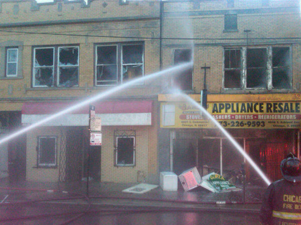 Firefighters battled a two-alarm blaze Thursday evening, April 5, 2012, at an appliance store in the South Side Back-of-the-Yards neighborhood. Read more. <span class=meta>(Photo&#47;CFD)</span>