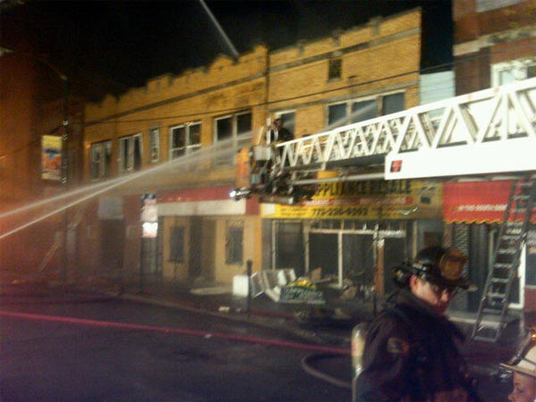 Firefighters battled a two-alarm blaze Thursday evening at an appliance store in the South Side Back-of-the-Yards neighborhood. Read more. <span class=meta>(Photo&#47;CFD)</span>