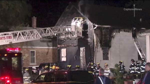 Two people were killed in an early morning house fire in south suburban Chicago Heights.
