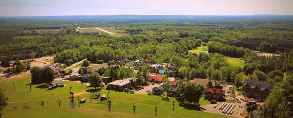 Crystal Mountain Resort & Spa in Thompsonville, MI: Upscale resort that draws big crowds in winter but becomes a family-friendly haven in summer Resort is home to Michigan's only alpine slide (great for mountain biking) and features 3 eateries and an 18-hole championship golf course