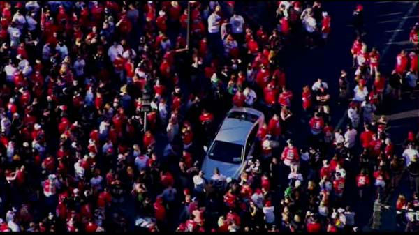 Fans lined up early for the Chicago Blackhawks parade and rally on  Friday, June 28, 2013.