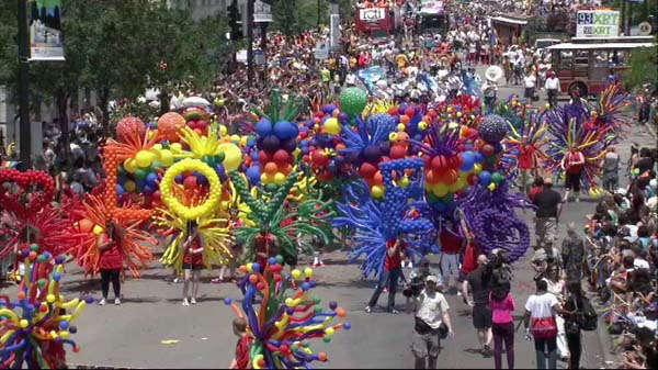 Thousands of people lined the route of Chicago&#39;s Pride Parade on June 30, 2013.  <span class=meta>(WLS Photo)</span>