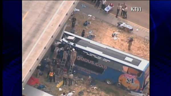"<div class=""meta ""><span class=""caption-text "">A double-decker Megabus traveling between Chicago and St. Louis slammed into a concrete bridge support on Thursday, August 2, 2012. Read more.</span></div>"