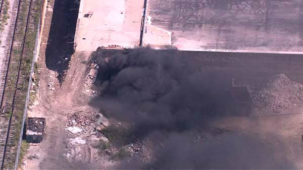 "<div class=""meta ""><span class=""caption-text "">A warehouse on the city's West Side was evacuated after machinery caught fire as workers tried to move an old glue tank. No injuries were reported, but HAZMAT crews responded.  (WLS Photo)</span></div>"