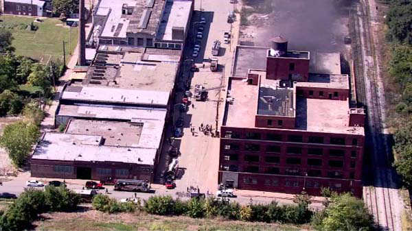 "<div class=""meta image-caption""><div class=""origin-logo origin-image ""><span></span></div><span class=""caption-text"">A warehouse on the city's West Side was evacuated after machinery caught fire as workers tried to move an old glue tank. No injuries were reported, but HAZMAT crews responded.  (WLS Photo)</span></div>"