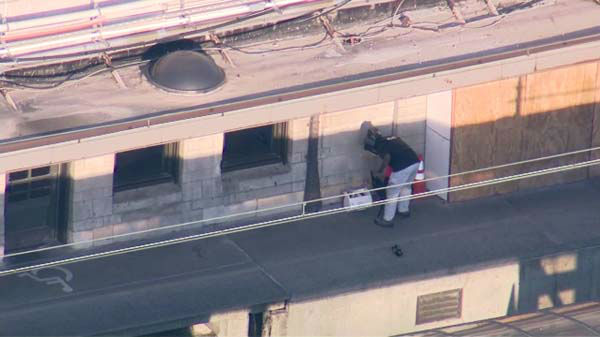 A suspicious package at the Van Buren station led police to stop all service on the South Shore and Metra Electric lines, which use that station in downtown Chicago. <span class=meta>(WLS Photo&#47; Chopper 7 HD)</span>