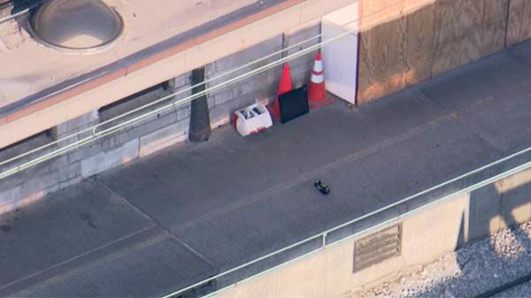 "<div class=""meta ""><span class=""caption-text "">A suspicious package at the Van Buren station led police to stop all service on the South Shore and Metra Electric lines, which use that station in downtown Chicago. (WLS Photo/ Chopper 7 HD)</span></div>"