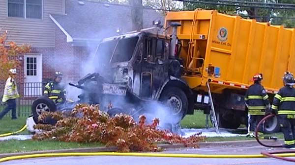 "<div class=""meta ""><span class=""caption-text "">At least one person was killed when a passenger vehicle and garbage truck collided in northwest suburban Glenview on October 15, 2013. (WLS Photo)</span></div>"