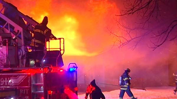 No one was hurt in a fire at a facility for developmentally-challenged adults  in north suburban Skokie on December 10, 2013.  <span class=meta>(WLS Photo)</span>