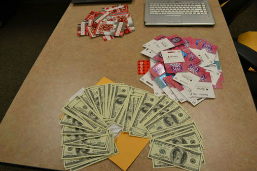 Police say the items  purchased with re-encoded gift cards were then sold for cash. <span class=meta>(Photo&#47;CHICAGO POLICE DEPARTMENT)</span>
