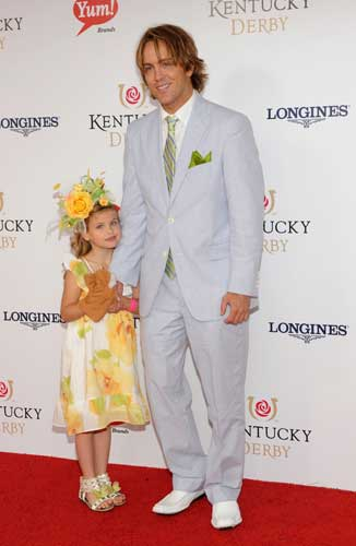 Larry Birkhead and his daughter Dannielynn walk the Kentucky Derby Red Carpet, Saturday, May 5, 2012, in Louisville, KY. Longines, the Swiss watchmaker known for its famous timepieces, is the Official Watch and Timekeeper of the 138th annual Kentucky Derby.  <span class=meta>(Diane Bondareff&#47;AP Images for Longines)</span>