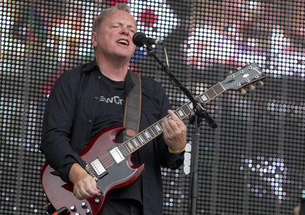 New Order  British musician Bernard Sumner of New Order performs on stage for BT London Live at Hyde Park in central London. (AP Photo/Joel Ryan)