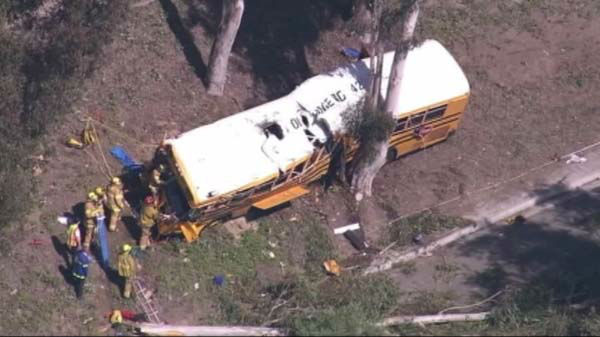 "<div class=""meta image-caption""><div class=""origin-logo origin-image ""><span></span></div><span class=""caption-text"">A school bus crash in Anaheim, California, injured 12 people, three of them critically, officials said.  (WLS Photo)</span></div>"