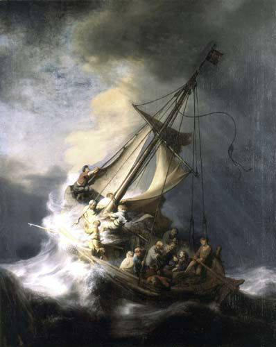 FILE - This undated file photograph released by the Isabella Stewart Gardner Museum shows the painting &#34;The Storm on the Sea of Galilee,&#34; by Rembrandt, one of more than a dozen works of art stolen by burglars in the early hours of March 18, 1990. The FBI said Monday, March 18, 2013, it believes it knows the identities of the thieves who stole the art. Richard DesLauriers, the FBI&#39;s special agent in charge in Boston, says the thieves belong to a criminal organization based in New England the mid-Atlantic states.  &#40;AP Photo&#47;Isabella Stewart Gardner Museum, File&#41;  NO SALES <span class=meta>(AP Photo&#47; Anonymous)</span>