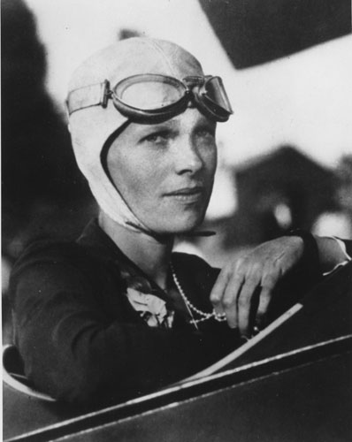 "<div class=""meta image-caption""><div class=""origin-logo origin-image ""><span></span></div><span class=""caption-text"">FILE-- An undated file photo shows Amelia Earhart, the first woman to fly solo across the Atlantic Ocean. Secretary of State Hillary Rodham Clinton is meeting Tuesday March 20, 2012, with historians and scientists from The International Group for Historic Aircraft Recovery, which will launch a new search in June for the wreckage of Earhart's plane off the remote island of Nikumaroro.  (AP Photo)</span></div>"