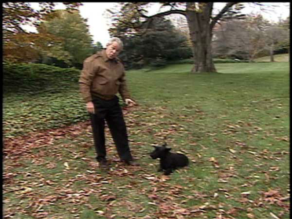 This video image provided by the White House shows President Bush and Barney in &#34;Barney Cam VI: Holiday in the National Parks&#34;. &#40;AP Photo&#47;White House&#41; <span class=meta>(AP Photo&#47; Anonymous)</span>