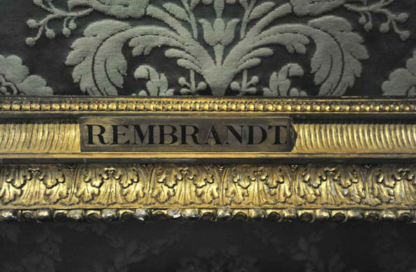 FILE - In this Thursday, March 11, 2010 file photo, a plaque marks the empty frame from which thieves cut Rembrandt&#39;s &#34;The Storm on the Sea of Galilee,&#34; which remains on display at the Isabella Stewart Gardner Museum in Boston. It is one of 13 works stolen by burglars from the museum in the early hours of March 18, 1990.The FBI said Monday, March 18, 2013, it believes it knows the identities of the thieves who stole the art. Richard DesLauriers, the FBI&#39;s special agent in charge in Boston, says the thieves belong to a criminal organization based in New England the mid-Atlantic states.  &#40;AP Photo&#47;Josh Reynolds, File&#41; <span class=meta>(AP Photo&#47; Josh Reynolds)</span>