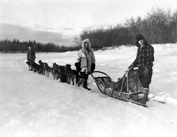 In this undated photo provided by the National Archives at College Park, William F. Arends, center, one of the more than 120,000 enumerators, returns to his dog sled after completing an enumeration near Fairbanks, Alaska for the 1940 Census. At right is musher Mike Agababa. Veiled in secrecy for 72 years because of privacy protections, the 1940 U.S. Census is the first historical federal decennial survey to be made available on the Internet initially rather than on microfilm. &#40;AP Photo&#47;U.S. Bureau of the Census, Dwight Hammack&#41; <span class=meta>(AP Photo)</span>