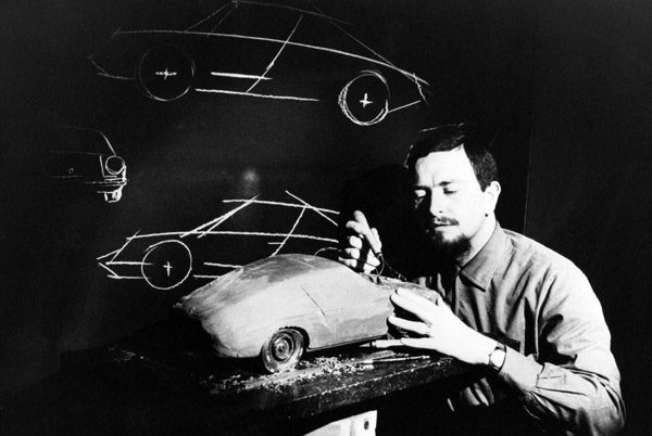 In this publicly released 1968 black and white  file photo provided by Porsche AG, Car designer Ferdinand Alexander Porsche is photographed at unknown place with a model of the Porsche 911. Ferdinand Alexander Porsche, the design chief credited with the classic 911 sports car and grandson of the automaker&#39;s founder, has died. Carmaker Porsche AG said Porsche was 76 and died Thursday April 5, 2012 in Salzburg, Austria. &#40;AP Photo&#47;ho&#47;Porsche AG&#41;      <span class=meta>(AP Photo&#47; Anonymous)</span>