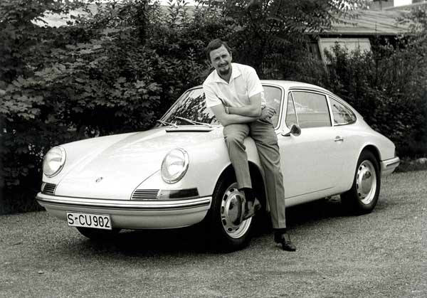 In this publicly released 1990 black and white  file photo provided by Porsche AG, Car designer Ferdinand Alexander Porsche is photographed 1963 with a Porsche 901 &#40;t8&#41; car at unknown place. Ferdinand Alexander Porsche, the design chief credited with the classic 911 sports car and grandson of the automaker&#39;s founder, has died. Carmaker Porsche AG said Porsche was 76 and died Thursday April 5, 2012 in Salzburg, Austria. &#40;AP Photo&#47;ho&#47;Porsche AG&#41;     MANDATORY CREDIT - EDITORIAL USE ONLY - NO ARCHIVE - <span class=meta>(AP Photo&#47; HOEP)</span>