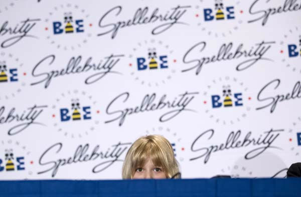 Six-year-old Lori Anne Madison of Woodbridge, Va., the youngest contestant in the history of the National Spelling Bee, speaks during a news conference,  Thursday, May 31, 2012 in Oxon Hill, Md.  &#40;AP Photo&#47;Evan Vucci&#41; <span class=meta>(AP Photo&#47; Evan Vucci)</span>