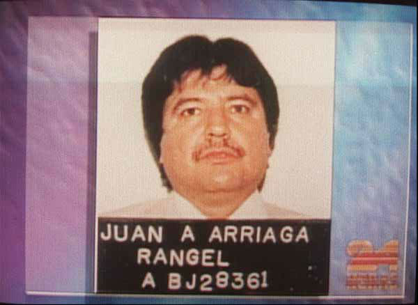 FILE - In this undated image taken from television, reputed Mexican cocaine baron Amado Carrillo Fuentes, alias &#34;El Senor de los Cielos,&#34; or &#34;The Lord of the Skies,&#34; is seen with a fake name he tried to use as identification in Chile. Carrillo fled to Chile to transfer his drug empire there after his links to a high-ranking Mexican official were exposed, a television network reported on Aug. 12, 1997. Carrillo, known as the &#34;Lord of the Skies&#34; for his airplane fleet he uses for smuggling drugs, was considered Mexico&#39;s No. 1 drug trafficker when he died in 1997 during plastic surgery to change his appearance. &#40;AP Photo&#47;Televisa, File&#41; <span class=meta>(AP Photo&#47; MN PDS XCJ JAM DLM LM**MEX**)</span>