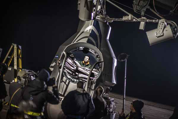 This image provided by Red Bull Stratos shows pilot Felix Baumgartner of Austria sitting in his capsule in preparation for the final manned flight of Red Bull Stratos in Roswell, N.M., Tuesday Oct. 9, 2012. Baumgartner canceled his planned death-defying 23-mile free fall on Tuesday because of high winds, the second time this week he was forced to postpone his quest to be the first supersonic skydiver. &#40;AP Photo&#47;Red Bull Stratos&#41; <span class=meta>(AP Photo&#47; HOP SEP**NY**)</span>