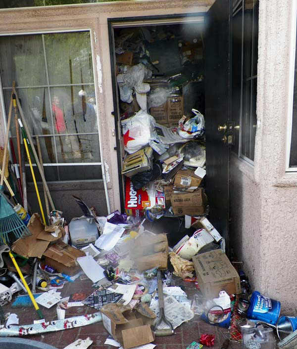 This photo provided by the City of Las Vegas via the Las Vegas Review-Journal shows hoarder Kenneth Epstein&#39;s home during a cleanup attempt in Las Vegas. Officials began hauling away items from Kenneth Epstein&#39;s home on Friday, Oct. 5, 2012 after they found materials stacked from floor to ceiling inside and declared it uninhabitable, the Las Vegas Review-Journal reported. In all, a private removal company was working with officials to remove about 15 truckloads of materials. &#40;AP Photo&#47;City of Las Vegas via Las Vegas Review-Journal&#41; <span class=meta>(AP Photo&#47; Uncredited)</span>