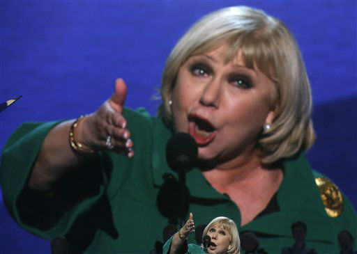 "<div class=""meta ""><span class=""caption-text "">Journalist and talk show host Cristina Saralegui addresses the Democratic National Convention in Charlotte, N.C., on Wednesday, Sept. 5, 2012. (AP Photo/Charles Dharapak) (AP Photo/ Charles Dharapak)</span></div>"