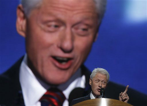 "<div class=""meta ""><span class=""caption-text "">Former President Bill Clinton addresses the Democratic National Convention in Charlotte, N.C., on Wednesday, Sept. 5, 2012. (AP Photo/Charles Dharapak) (AP Photo/ Charles Dharapak)</span></div>"