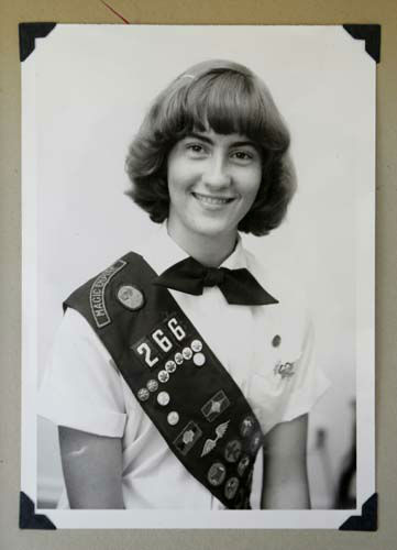 This 1973 family photo shows Joni Kinsey, of Iowa City, Iowa, in her Girl Scouts uniform. In an effort to save money, Girl Scout councils across the country are making proposals that would have been unthinkable a generation ago: selling summer camps that date back to the 1950s. &#40;AP Photo&#47;Courtesy Joni Kinsey&#41; <span class=meta>(AP Photo&#47; Uncredited)</span>