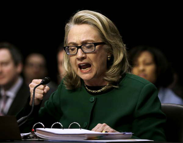 "<div class=""meta ""><span class=""caption-text "">Secretary of State Hillary Rodham pounds her fist as she testifies on Capitol Hill in Washington, Wednesday, Jan. 23, 2013, before the Senate Foreign Relations Committee hearing on the deadly September attack on the U.S. diplomatic mission in Benghazi, Libya, that killed Ambassador Chris Stevens and three other Americans.  (AP Photo/Pablo Martinez Monsivais) (AP Photo/ Pablo Martinez Monsivais)</span></div>"