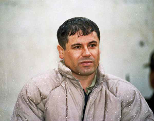 "<div class=""meta image-caption""><div class=""origin-logo origin-image ""><span></span></div><span class=""caption-text"">FILE  - In this June 10, 1993 file photo, Joaquin Guzman Loera, alias ""El Chapo"" Guzman, is shown to the press after his arrest at the high security prison of Almoloya de Juarez on the outskirts of Mexico City. Guzman escaped from a maximum security federal prison hidden in a laundry truck in 2001 and continues fugitive as of Aug. 2012.  (AP Photo/Damian Dovarganes, File) (AP Photo/ Damian Dovarganes)</span></div>"