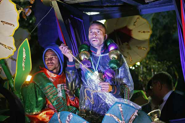 Musician Troy &#34;Trombone Shorty&#34; Andrews rides in the Orpheus Mardi Gras parade in New Orleans,  Monday, Feb. 11, 2013. &#40;AP Photo&#47;Bill Haber&#41; <span class=meta>(AP Photo&#47; Bill Haber)</span>