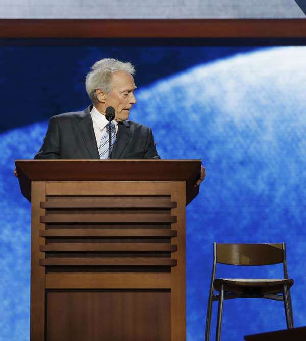 Actor Clint Eastwood addresses the Republican National Convention in Tampa, Fla., on Thursday, Aug. 30, 2012. &#40;AP Photo&#47;Charles Dharapak&#41; <span class=meta>(AP Photo&#47; Charles Dharapak)</span>