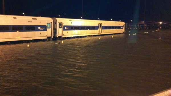 This photo provided by MTA Bridges and Tunnels shows floodwaters at Metro-North Railroad&#39;s Croton-Harmon station, in the aftermath of Hurricane Sandy on Tuesday, Oct. 30, 2012, in Croton-on-Hudson, N.Y. Sandy, the storm which was downgraded from a hurricane just before making landfall, caused multiple fatalities, halted mass transit and cut power to more than 6 million homes and businesses. &#40;AP Photo&#47; MTA Bridges and Tunnels&#41; MANDATORY CREDIT <span class=meta>(AP Photo&#47; Uncredited)</span>