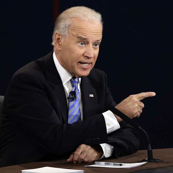 Vice President Joe Biden answers a question during the vice presidential debate at Centre College, Thursday, Oct. 11, 2012, in Danville, Ky. &#40;AP Photo&#47;Charlie Neibergall&#41; <span class=meta>(AP Photo&#47; Charlie Neibergall)</span>