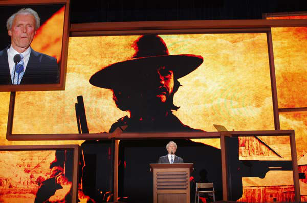 "<div class=""meta ""><span class=""caption-text "">Actor Clint Eastwood addresses the Republican National Convention in Tampa, Fla., on Thursday, Aug. 30, 2012. (AP Photo/Charles Dharapak) (AP Photo/ Charles Dharapak)</span></div>"