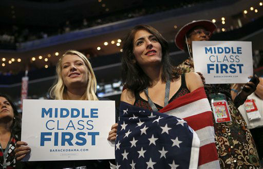 "<div class=""meta ""><span class=""caption-text "">Delegates watch as Former President Bill Clinton addresses the Democratic National Convention in Charlotte, N.C., on Wednesday, Sept. 5, 2012. (AP Photo/Jae C. Hong) (AP Photo/ Jae C. Hong)</span></div>"