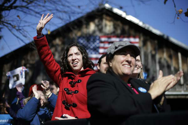 Supporters cheer as Vice President Joe Biden speaks during a campaign rally at Heritage Farm Museum at Claude Moore Park, Monday, Nov. 5, 2012, in Sterling, Va. &#40;AP Photo&#47;Matt Rourke&#41; <span class=meta>(AP Photo&#47; Matt Rourke)</span>