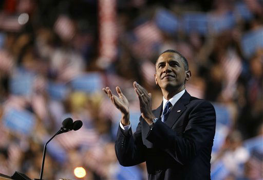 President Barack Obama addresses the Democratic National Convention in Charlotte, N.C., on Thursday, Sept. 6, 2012. &#40;AP Photo&#47;David Goldman&#41; <span class=meta>(AP Photo&#47; David Goldman)</span>