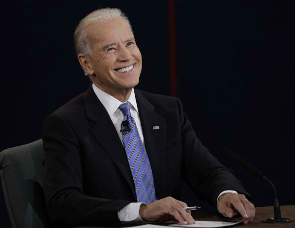 Vice President Joe Biden reacts to a question during the vice presidential debate at Centre College, Thursday, Oct. 11, 2012, in Danville, Ky. &#40;AP Photo&#47;Charlie Neibergall&#41; <span class=meta>(AP Photo&#47; Charlie Neibergall)</span>
