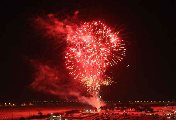"<div class=""meta ""><span class=""caption-text "">Fireworks explode in the sky to celebrate the New Year at Imjingak in Paju near the border village of the Panmunjom,  South Korea, Tuesday, Jan 1, 2013. About 5,000 participents prayed for a peaceful solution to the rising tension over North Korea's nuclear weapons programs and hope for an early reunification of the divided Koreas.(AP Photo/Ahn Young-joon). (AP Photo/ Ahn Young-joon)</span></div>"