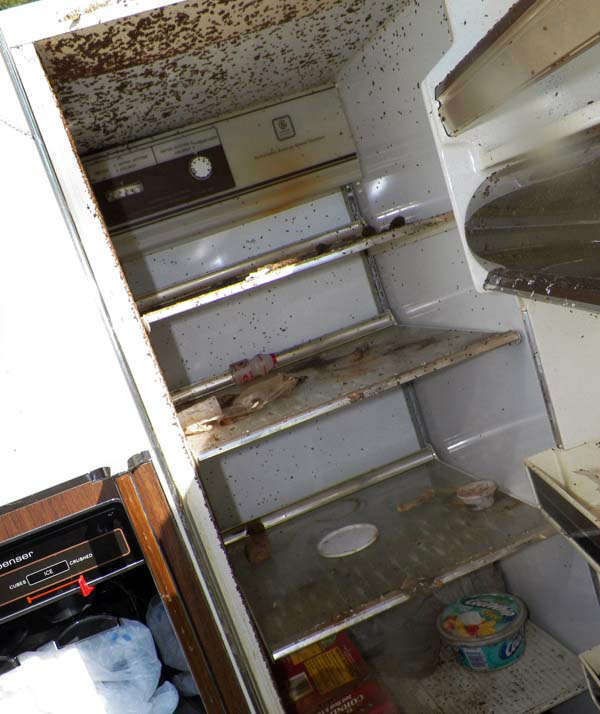 "<div class=""meta ""><span class=""caption-text "">This photo provided by the City of Las Vegas via the Las Vegas Review-Journal shows a refrigerator at hoarder Kenneth Epstein's home during a cleanup attempt in Las Vegas. Officials began hauling away items from Kenneth Epstein's home on Friday, Oct. 5, 2012 after they found materials stacked from floor to ceiling inside and declared it uninhabitable, the Las Vegas Review-Journal reported. In all, a private removal company was working with officials to remove about 15 truckloads of materials. (AP Photo/City of Las Vegas via Las Vegas Review-Journal) (AP Photo/ Uncredited)</span></div>"