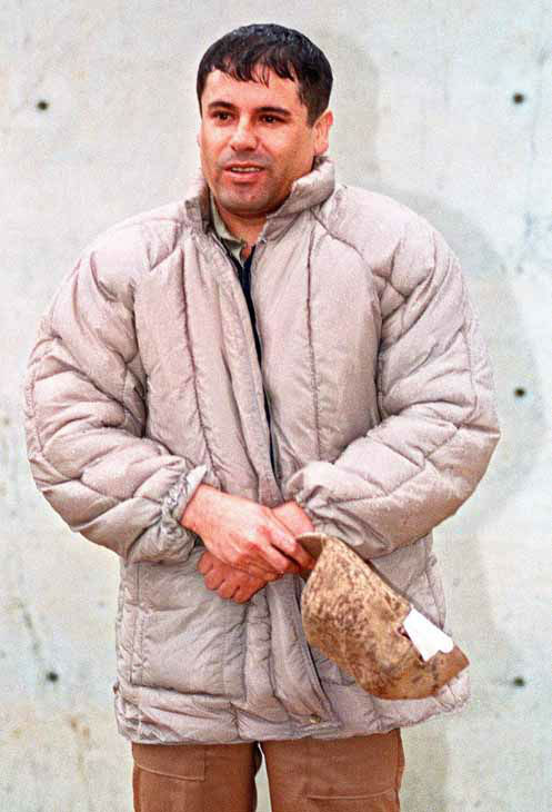 ** FOR STORY SLUGGED NARCOTRAFICO-APODOS ** FILE - In this June 10, 1993 file photo in an unknown location in Mexico is seen reputed drug trafficking boss Joaquin Guzman-Loera, aka &#34;El Chapo&#34; and &#34;El Rapido,&#34; who escaped from one of Mexico&#39;s most secure prisons in 2001.  &#34;El Chapo&#34; means Shorty, and &#34;El Rapido&#34; means Fast One. &#40;AP Photo&#47;Damian Dovarganes, File&#41; <span class=meta>(Photo&#47;DAMIAN DOVARGANES)</span>