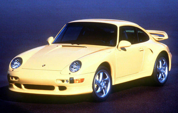 FILE--The 1997 Porsche 911 Turbo S, which made its world premier Wednesday March 26, 1997, at the New York International Automobile Show, is shown in an undated file photo. While based on the current all-wheel-drive 911 Turbo, the body of the Turbo S now features Aerokit II front and rear spoliers, left and right rear side panel air ducts, additional light-level right front air inlets and a horsepower of 424, up from 400. &#40;AP Photo&#47;Porsche&#41; <span class=meta>(AP Photo&#47; Anonymous)</span>