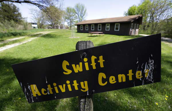 This Tuesday, May 14, 2013 photo shows the Swift Activity Center at the Camp Conestoga Girls Scouts camp in New Liberty, Iowa. In an effort to save money, Girl Scout councils across the country are making proposals that would have been unthinkable a generation ago: selling summer camps that date back to the 1950s. &#40;AP Photo&#47;Charlie Neibergall&#41; <span class=meta>(AP Photo&#47; Charlie Neibergall)</span>