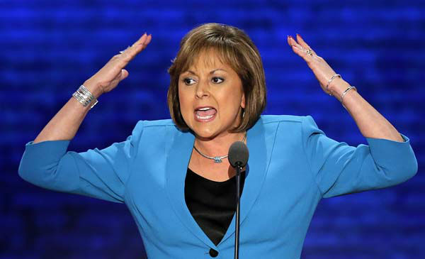 "<div class=""meta ""><span class=""caption-text "">New Mexico Governor Susana Martinez addresses the Republican National Convention in Tampa, Fla., on Wednesday, Aug. 29, 2012. (AP Photo/J. Scott Applewhite) (AP Photo/ J. Scott Applewhite)</span></div>"