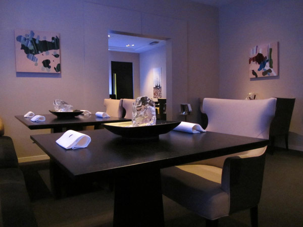 A dining room can be seen here from the Chicago restaurant Alinea. This restaurant was announced by TripAdvisor to be the seventh most preferred restaurant in the country.  <span class=meta>(TripAdvisor)</span>